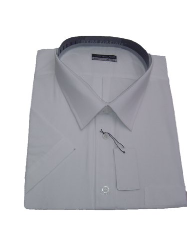 Tom Hagan/Classic Short Sleeved Casual Formal Wear Shirts Big Full Fitting Black - White - 3Xl 19-19.5 Collar