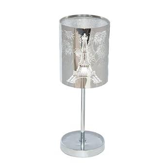 Lampe a poser metallica tour eiffel luminaires for Lampe de chevet anglais