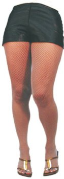 Sheer Desires White Fishnet Tights Size Extra Large