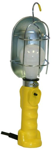 Bayco FL-407PDQ Professional Series Metal Shield Incandescent Utility Light with 18 Gauge Cord and Tool Tap