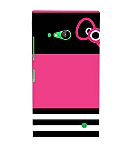 Beautiful Bow Design 3D Hard Polycarbonate Designer Back Case Cover for Nokia Lumia 730 :: Microsoft Lumia 730 :: Microsoft Lumia 735