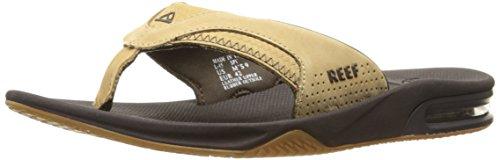 Reef Men's Leather Fanning II Flip Flop, Tan Woven, 10 M US Reef Woven Sandals