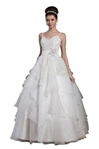 A-line Belted Floor Length Organza Spaghetti Strap  Dress