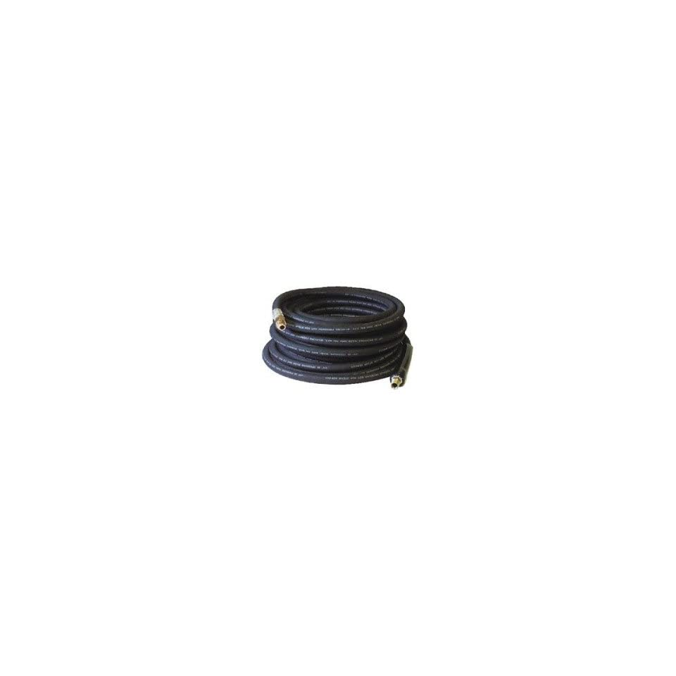 3/8 ID x 50 Black Rubber Pressure Washer Hose Coupled MPT x MPT Swivel
