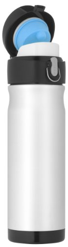 Thermos Nissan JMW500P6 16-Ounce Stainless-Steel Backpack Bottle, Silver