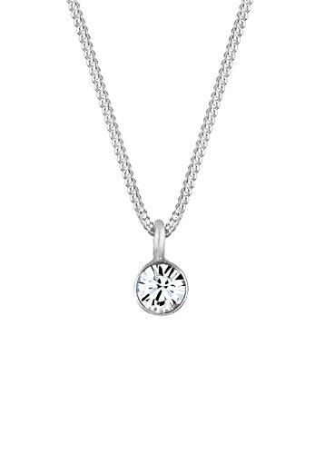 Elli-Damen-Kette-mit-Anhnger-Kristall-925-Sterling-Silber-Swarovski-Kristall-wei