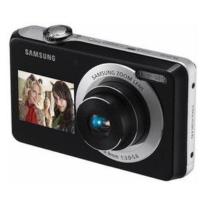 Samsung DualView PL100 12.2 Megapixel Dual LCD Digital Camera (Black)