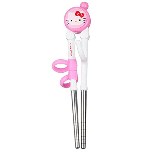Hello Kitty Stainless Steel Training Chopsticks - 1