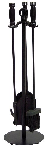 Uniflame, F-1048, 4pc Black Wrought Iron Fireset (4 Piece Fireplace Tools compare prices)