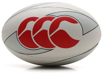 CCC Hopu Training Rugby Ball White/Red - size 5