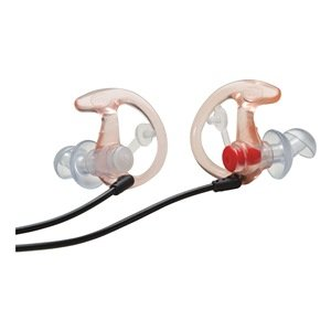 Filtered Ear Plugs, Clear/Black, 24Db, L, Pr