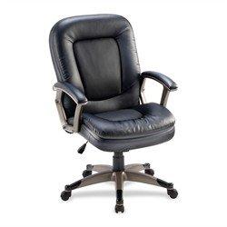 "Lorell - Mid-back Chair, 27""x32-1/2""x43-1/2"", Black, Sold as 1 Each, LLR 69519"
