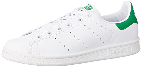 Adidas Stan Smith J Scarpe per bambini, Ragazza, Ftwr White/Ftwr White/Green, 38
