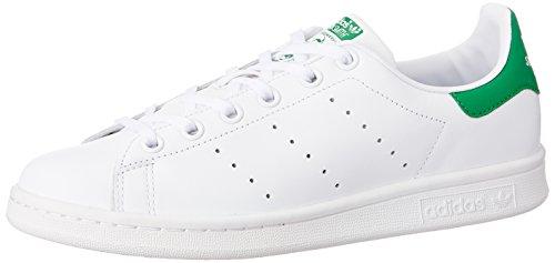 Adidas Stan Smith J Scarpe per bambini, Ragazzo, Multicolore (Ftwr White/Ftwr White/Green), Taglia 36 2/3