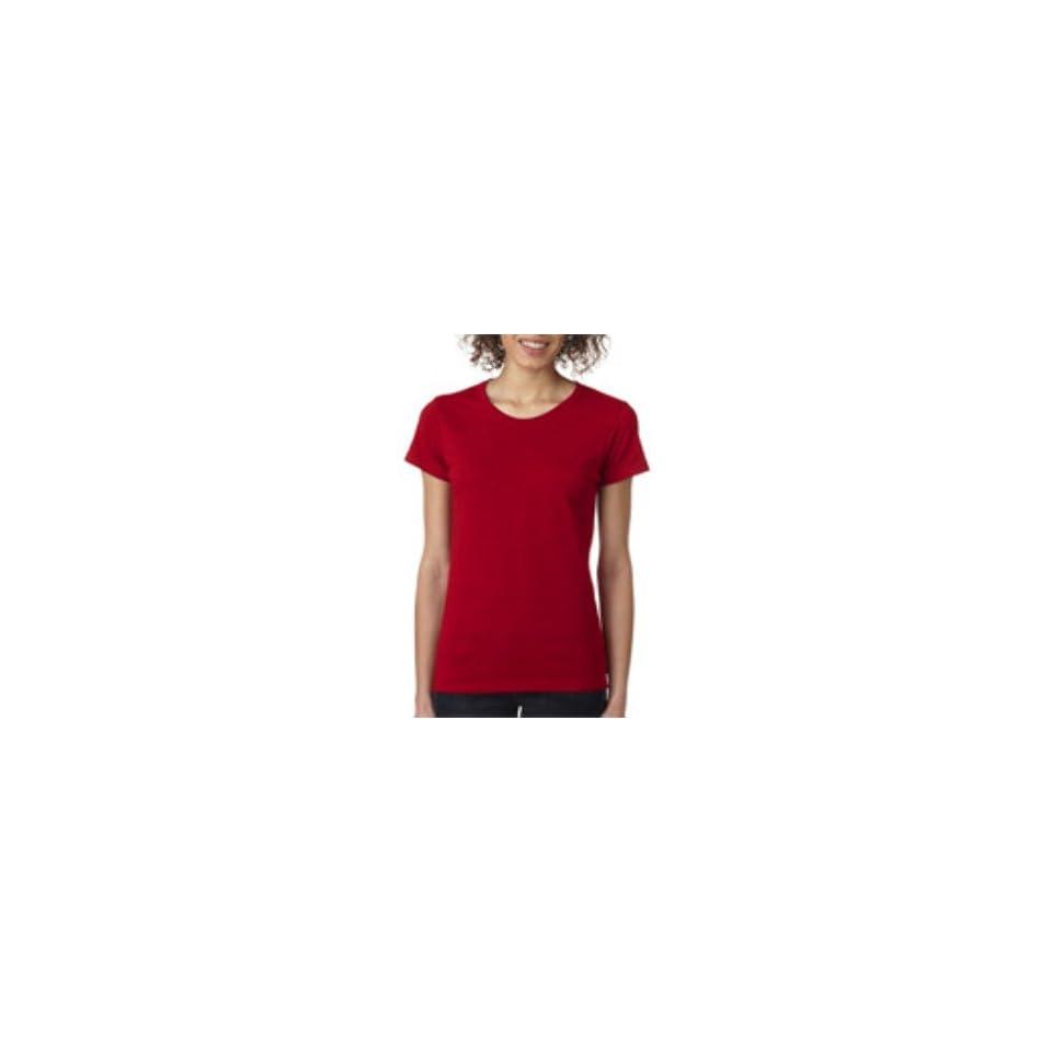 Gildan Missy Fit Heavy Cotton T Shirt Antique Cherry Redl