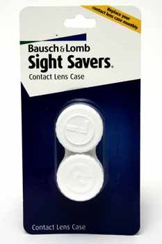 Bausch and Lomb Sight Savers Contact Lens Case, Leak Proof (Pack of 24)