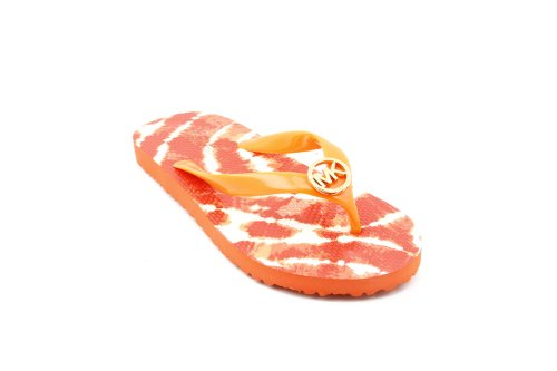 Michael Kors Women'S Flip Flop Rubber Thong Sandal In Persimmon Size 7 front-1042499