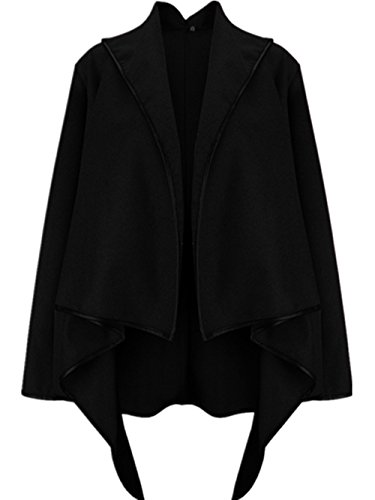 coffeepop-womens-ladies-premium-marca-slim-fit-temperamento-trench-coat-negro-negro-xx-large