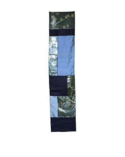 Aviva Stanoff Hand-Pressed Signature Velvet Table Runner, Twilight Eucalyptus