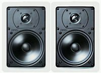 Definitive Technology Uiw65 Rectangular In-Wall Speakers (Pair, White)
