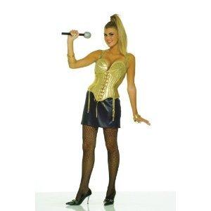 80s madonna fancy dress gold top amp black skirt uk 10 14 amazon co uk