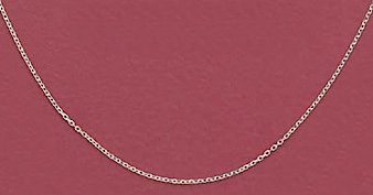 Sterling Silver Necklace, 13 + 1 in Ext., 1mm Cable Chain, Child-size