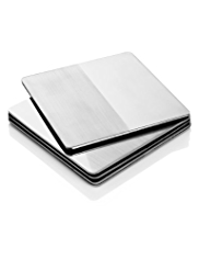 4 Metal Brushed Coasters