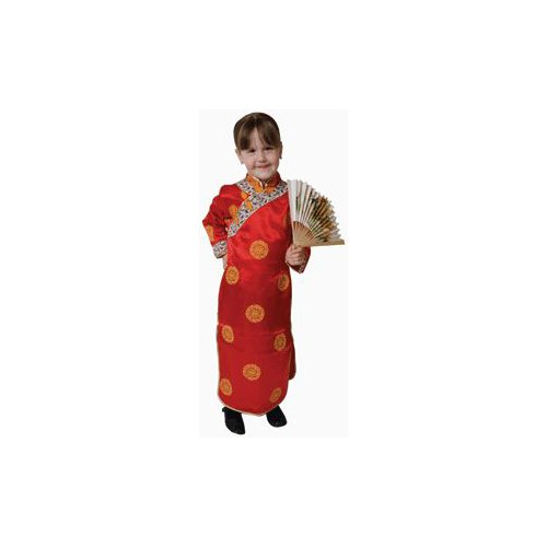 Pretend Deluxe Chinese Geisha Girl Toddler Costume Dress-Up Set Size 2T