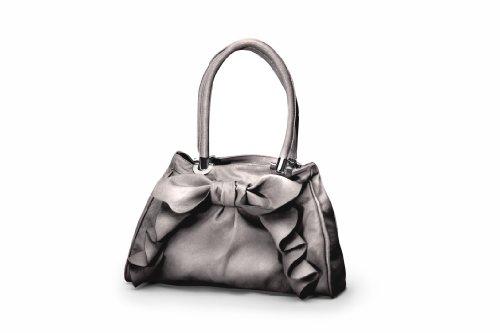 Kids Line Cascade Bow Diaper Bag, Metallic Silver