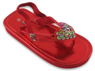 Brand New Toddlers Heart Red Sandals Size 5 front-49745