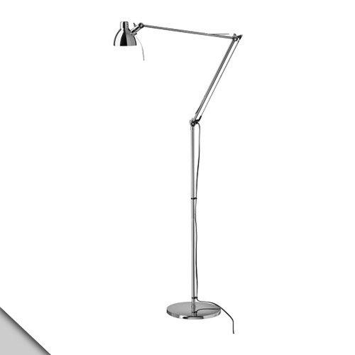 Ikea - Antifoni Floor/Reading Lamp, Nickel Plated + G9 Led Bulb
