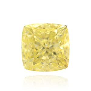 Yellow Loose Diamond Cushion Cut Natural Fancy Color GIA Cert 2.23 Carat VVS2