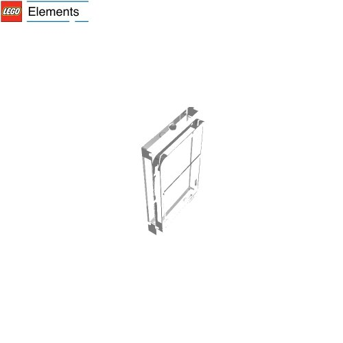 Lego Parts: Glass For Train Door (Transparent Clear)