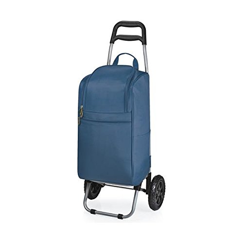 Picnic Time Insulated Cart Cooler with Wheeled Trolley, Navy (Picnic Time Rolling Cooler compare prices)