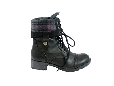 Military combat boot fold over cuf amazon com