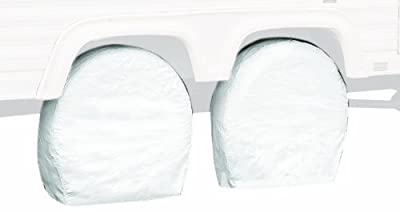 Classic Accessories Wheel Cover, Pair, White