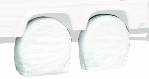 Classic Accessories 76250 RV Wheel Cover, Pair, White, 29