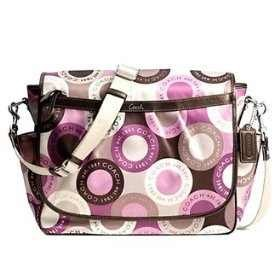 Coach Snaphead Pink Multifunction Diaper Baby Messenger Style Bag by Coach