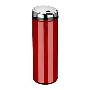 dihl 50 litre round sensor bin red kitchen home. Black Bedroom Furniture Sets. Home Design Ideas