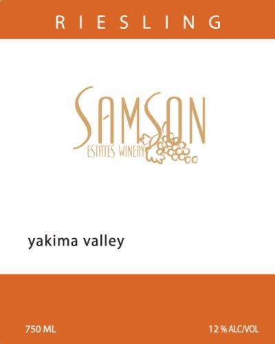 2012 Samson Estates Winery Yakima Valley Riesling 750 Ml