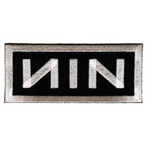 Amazon.com: Nine Inch Nails - Rectangle NIN Logo, White on