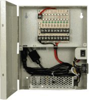 R-Tech Power Distribution Box with 9-Port Fused Output, 12V DC, 10Amp, UL list for Surveillance Security Camera CCTV