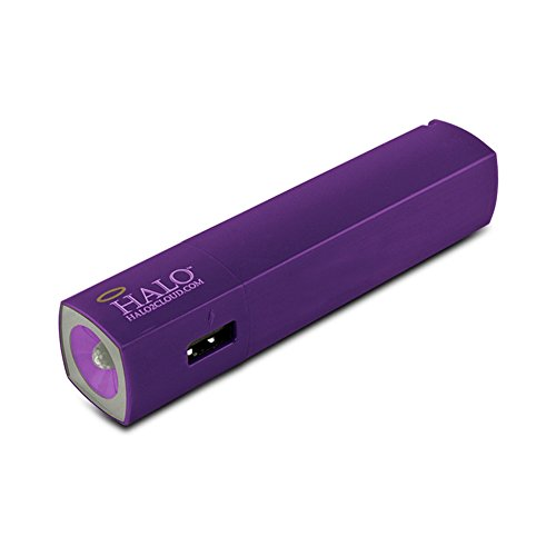 HALO StarLight 3000 Portable Charger And Flashlight, in Dark Purple
