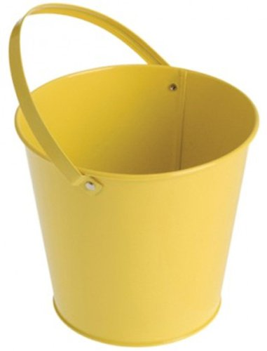 US Toy Metal Bucket Party Accessory Toy, Yellow - 1