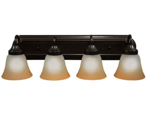 Hampton Bay 3 Light Oil Rubbed Bronze Vanity Light With: Luna Series Bathroom Four Globe Vanity Light Bar Fixture