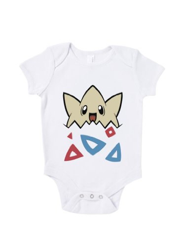 Blue Ivory Togepi Cute Baby Grow Novelty Inspired Birthday Present Baby Shower front-1008968