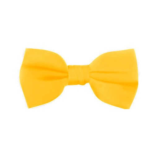 Solid Color Mens Bowtie by Jacob Alexander - Bright Gold