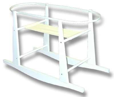 Buy Cheap Rocking Wooden Moses Basket Stand- Antique White