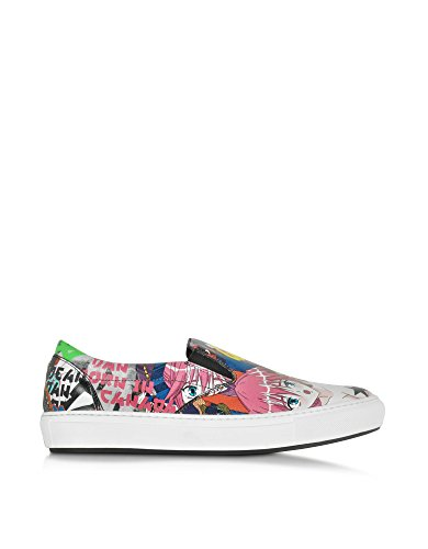DSQUARED2 HERREN W16SN1071000M037 MULTICOLOUR LEDER SLIP ON SNEAKERS thumbnail