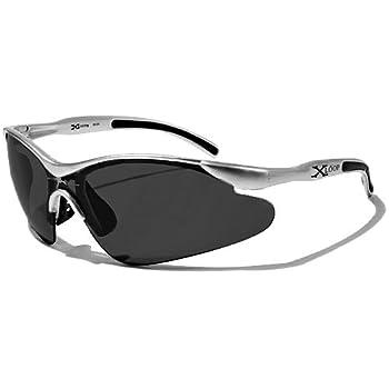 X-Loop Lunettes de Soleil - Sport - Cyclisme - Ski - Conduite - Motard / Mod. 3529 Gris Clair / Taille Unique Adulte / Protection 100% UV400
